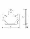 Pads - Brake Pads - Accossato - Accossato Brake Pads Kit For Motorcycle, Made In Italy Compound, AGPA176 code