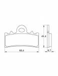 Pads - Brake Pads - Accossato - Accossato Brake Pads Kit For Motorcycle, Made In Italy Compound, AGPA184 code