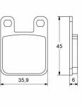 Pads - Brake Pads - Accossato - Accossato Brake Pads Kit For Motorcycle, Made In Italy Compound, AGPA18 code