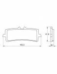 Pads - Brake Pads - Accossato - Accossato Brake Pads Kit For Motorcycle, Made In Italy Compound, AGPA186 code