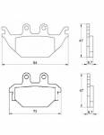 Pads - Brake Pads - Accossato - Accossato Brake Pads Kit For Motorcycle, Made In Italy Compound, AGPA173 code