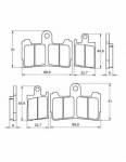 Pads - Brake Pads - Accossato - Accossato Brake Pads Kit For Motorcycle, Made In Italy Compound, AGPA193 code