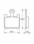 Accossato - Accossato Brake Pads Kit For Motorcycle, Made In Italy Compound, AGPA37 code