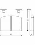Accossato - Accossato Brake Pads Kit For Motorcycle, Made In Italy Compound, AGPA53 code