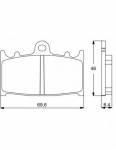 Accossato - Accossato Brake Pads Kit For Motorcycle, Made In Italy Compound, AGPA75 code