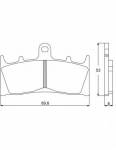 Accossato - Accossato Brake Pads Kit For Motorcycle, Made In Italy Compound, AGPA73 code