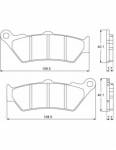 Accossato - Accossato Brake Pads Kit For Motorcycle, Made In Italy Compound, AGPA92 code