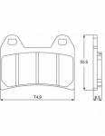 Accossato - Accossato Brake Pads Kit For Motorcycle, Made In Italy Compound, AGPA96 code