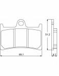 Accossato - Accossato Brake Pads Kit For Motorcycle, Made In Italy Compound, AGPA97 code