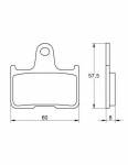 Accossato - Accossato Brake Pads Kit For Motorcycle, Made In Italy Compound, AGPP143 code