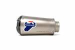 Termignoni - Termignoni SO-02 Muffler Titanium Sleeve with Black Aluminum End Cap Universal