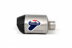 Exhaust Systems - Slip-ons - Termignoni - Termignoni SO-04 Cylindrical Muffler Titanium Sleeve with Carbon End Cap Universal