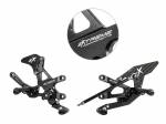 Extreme Components - Extreme Components Rearsets RSV4 09-16 GP shift black with carbon heel