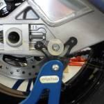 Alpha Racing Fixing socket kit swingarm, silver