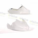 Alpha Racing Fuel tank cover short GRP white BMW S1000RR 2009-2011
