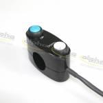 Alpha Racing Switch unit 2-buttons, mono, black