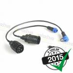 Engine Electronics - Racing ECU Wiring Harness and Accessories - Alpha Racing Performance Parts - Alpha Racing Cable kit extension diag.plug/calibration kit BMW S1000RR 2015-2018,HP4 Race 2017-2018